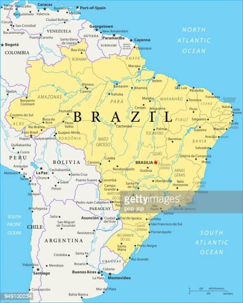 Map of Brazil - Vector