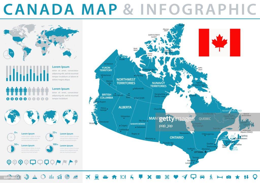 Karte von Kanada - Infografik Vektor : Stock-Illustration