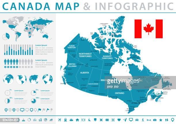 Karte von Kanada - Infografik Vektor