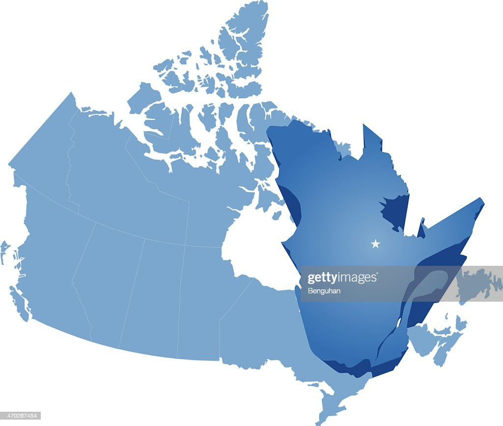 Map of Canada - Quebec province