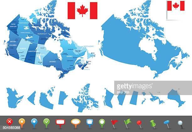 マップのカナダ-国、都市、ナビゲーションアイコン - ontario canada点のイラスト素材/クリップアート素材/マンガ素材/アイコン素材