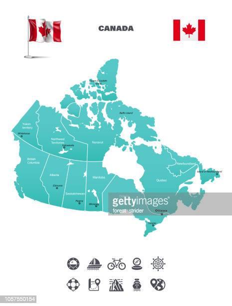 map of canada - canada stock illustrations