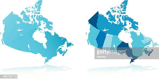 map of canada - atlantic ocean stock illustrations