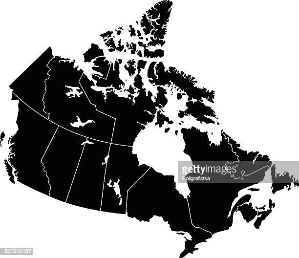 map of canada - canada stock illustrations, clip art, cartoons, & icons
