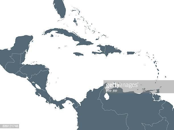 ilustraciones, imágenes clip art, dibujos animados e iconos de stock de mapa de américa central - colombia