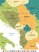 Map of Central Balkan Region