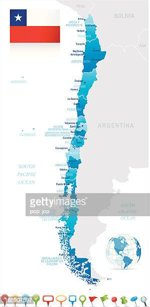 Santiago Chile Stock Illustrations And Cartoons Getty Images - Map of chile with cities