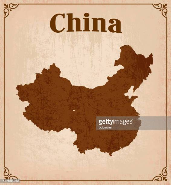 Map of China on a grunge background