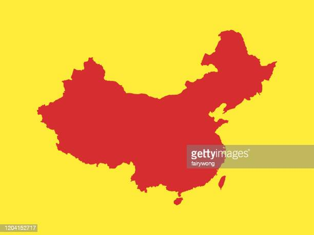 map of china - wuhan stock illustrations
