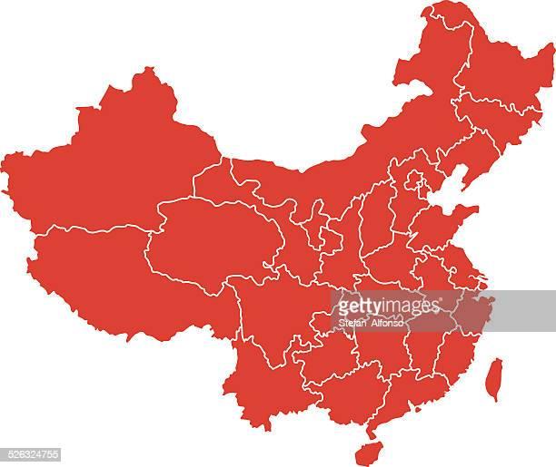 karte von china - china stock-grafiken, -clipart, -cartoons und -symbole