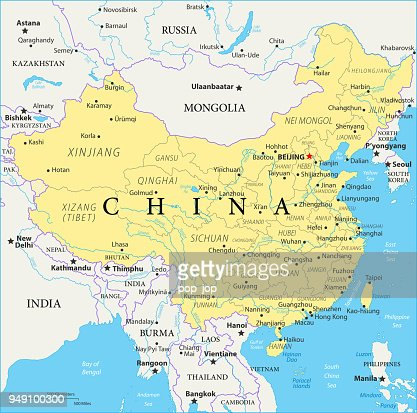 Map Of China Vector Vector Art Getty Images