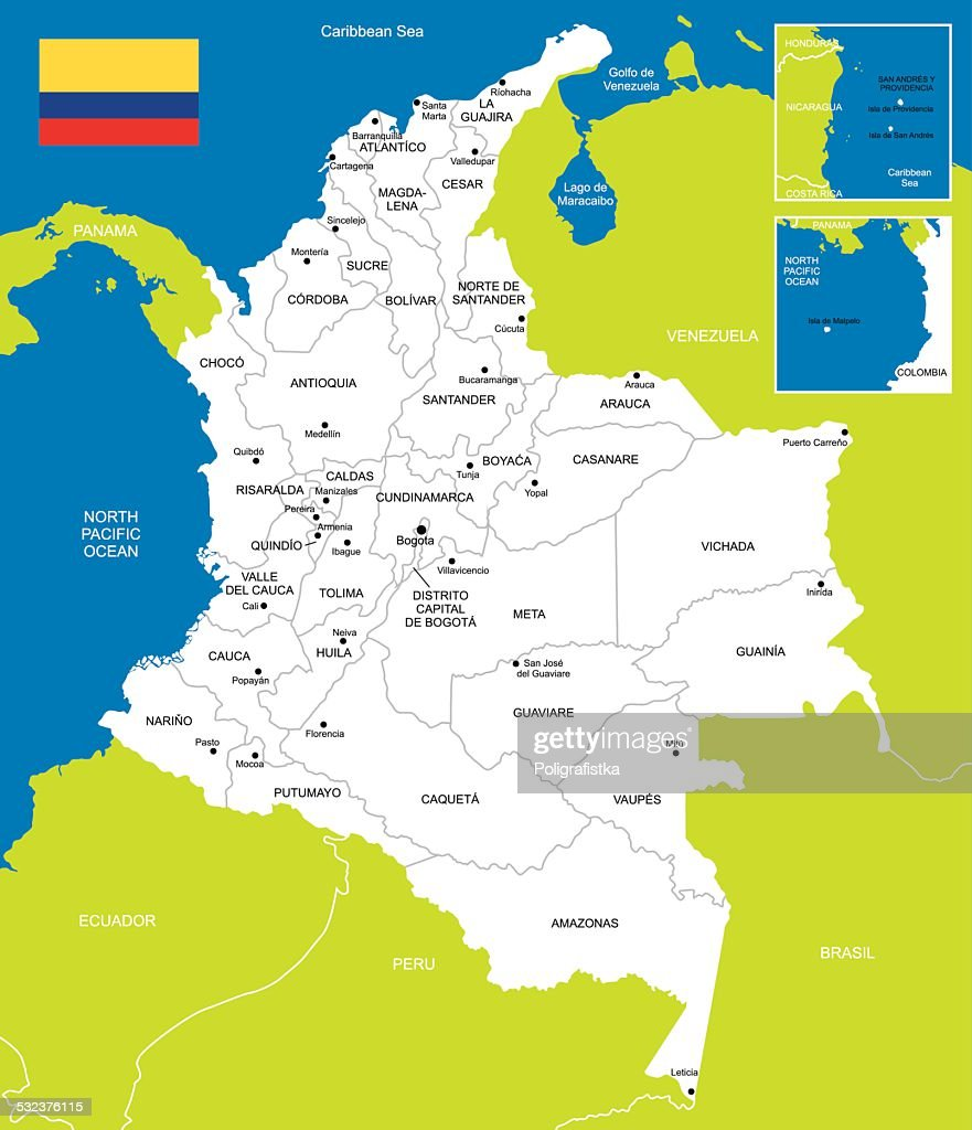 Map Of Colombia Vector Art Getty Images - Tunja map