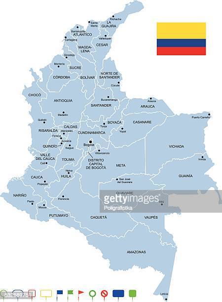 map of colombia - colombia stock illustrations