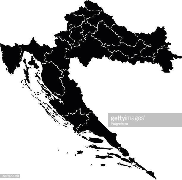 map of croatia - croatia stock illustrations, clip art, cartoons, & icons