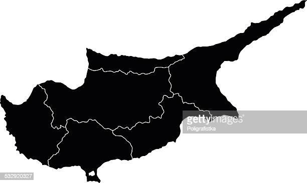 map of cyprus - republic of cyprus stock illustrations