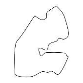 map of Democratic Republic of the Congo. Silhouette of Democratic Republic of the Congo map vector illustration