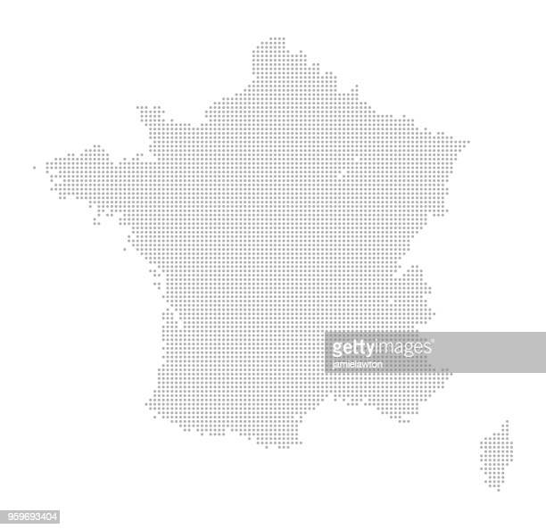 map of dots - france - cartography stock illustrations