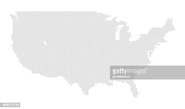 map of dots - north america - cartography stock illustrations