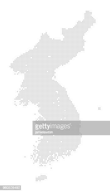 Karte von Punkte - Nord und Süd Korea