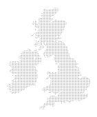 Map of Dots - United Kingdom of Great Britain and Ireland