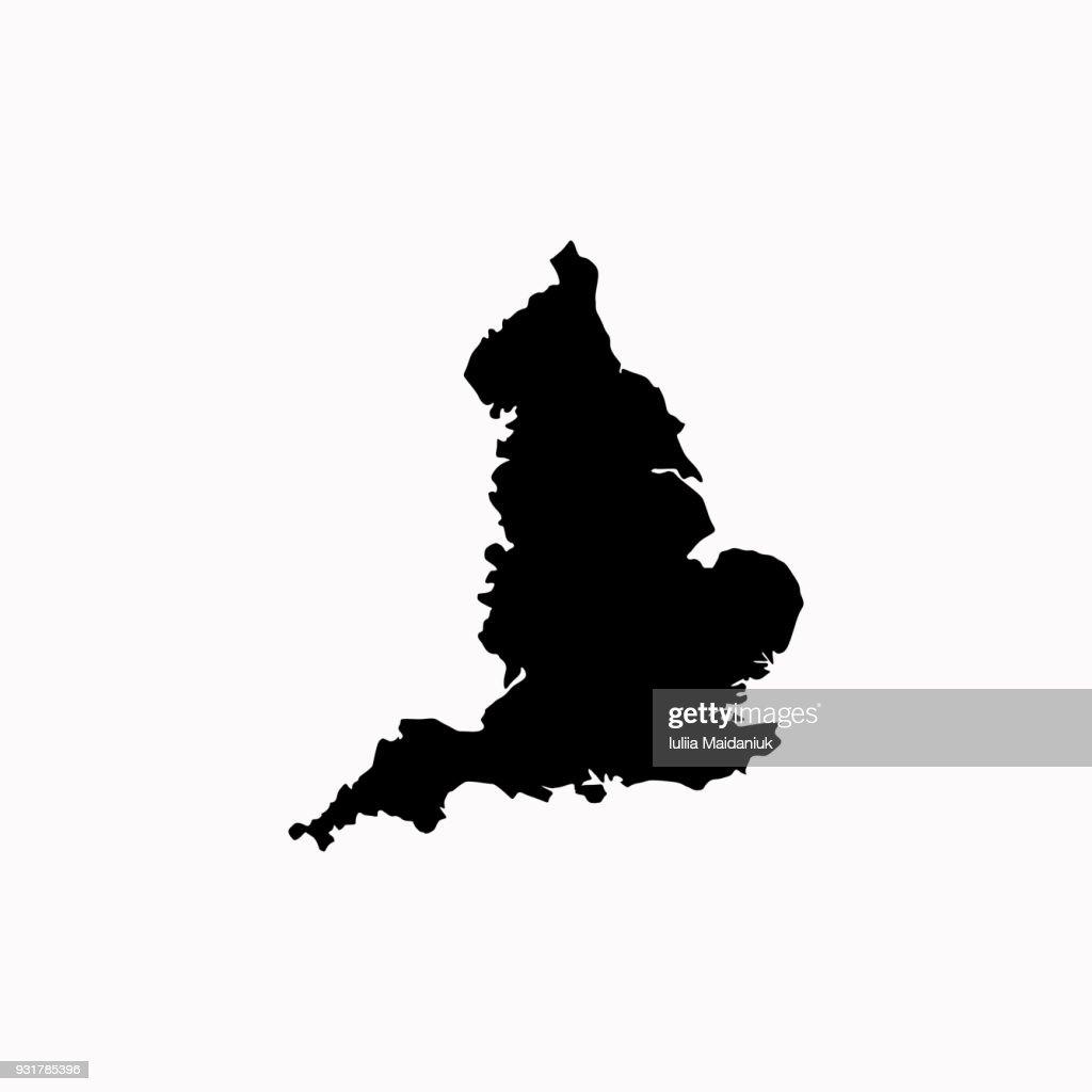 Map of England vector icon. vector  icon.