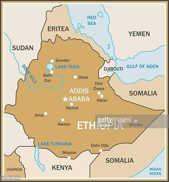map of ethiopia - ethiopia stock illustrations, clip art, cartoons, & icons