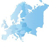 Map of Europe, Vector illustration