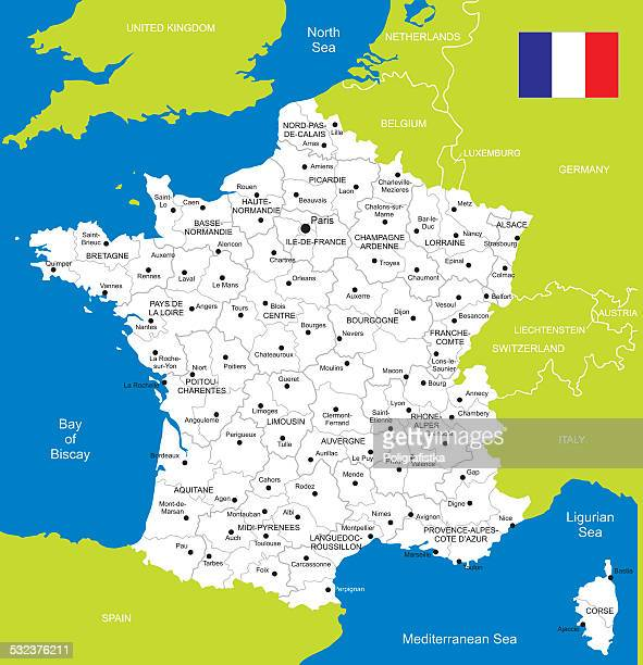 map of france - normandy stock illustrations, clip art, cartoons, & icons