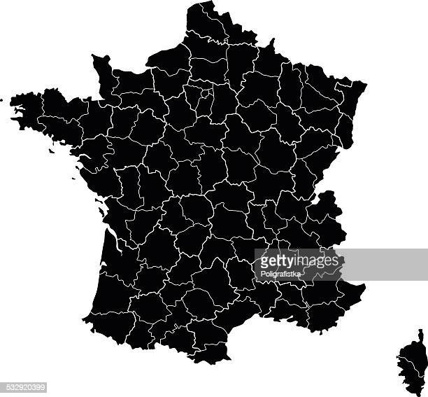map of france - aquitaine stock illustrations, clip art, cartoons, & icons