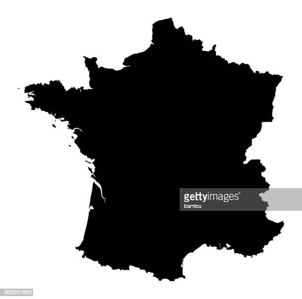 map of france - france stock illustrations