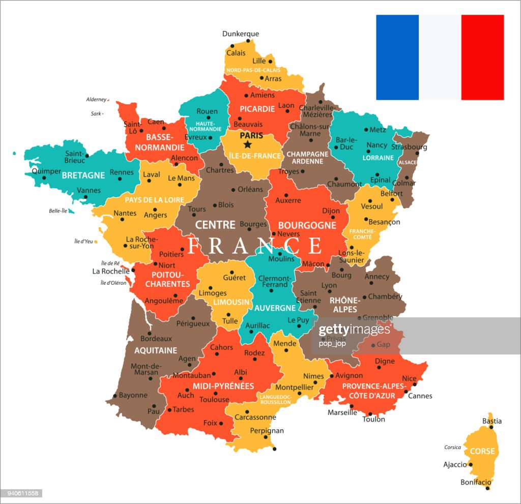 Evreux France Map.Map Of France Vector Vector Art Getty Images