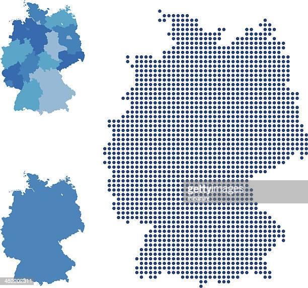 deutschland-karte - deutschland stock-grafiken, -clipart, -cartoons und -symbole