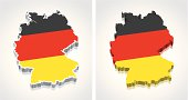 3D Map of Germany Flag