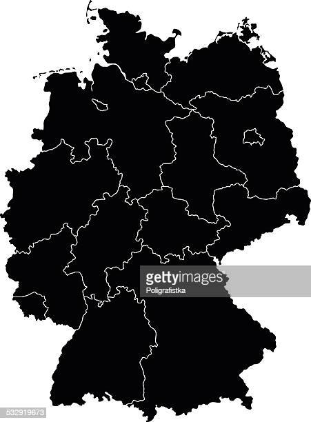 map of germany - germany stock illustrations, clip art, cartoons, & icons