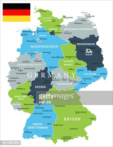 map of germany vector vector art getty images