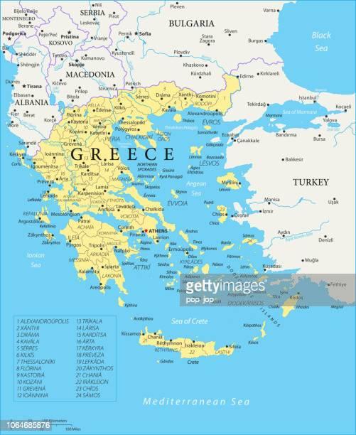 Map of Greece - Vector