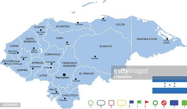 ilustraciones, imágenes clip art, dibujos animados e iconos de stock de mapa de honduras - honduras