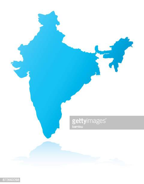 map of india - india stock illustrations, clip art, cartoons, & icons