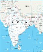 Map of India - Vector