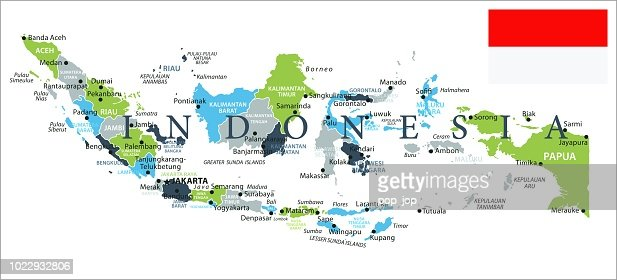 Map Of Indonesia Infographic Vector Vector Art | Getty Images