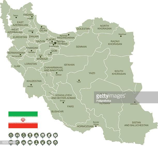 karte von iran - iran stock-grafiken, -clipart, -cartoons und -symbole