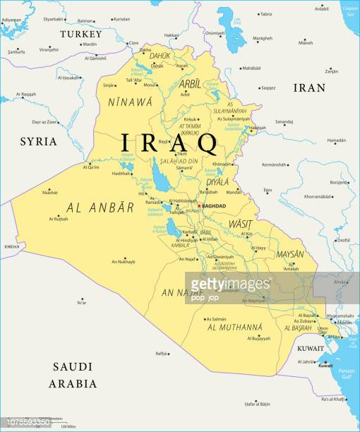 Map of Iraq - Vector