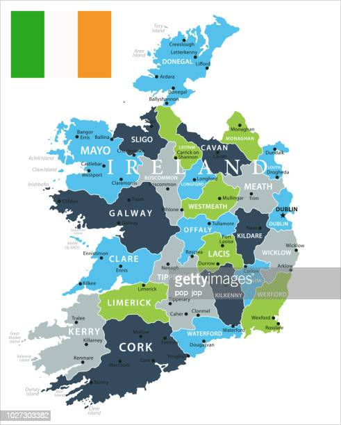 Map Of Ireland Vector.Map Of Ireland Vector Stock Illustration Getty Images