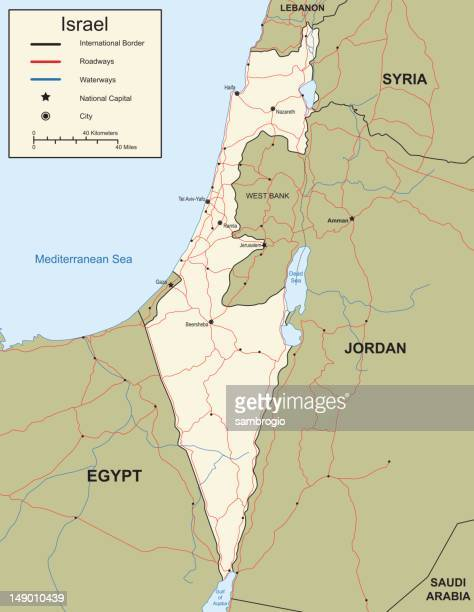 map of israel - historical palestine stock illustrations