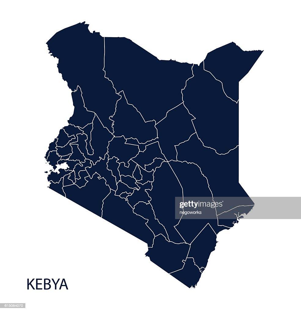 Map of Kenya.
