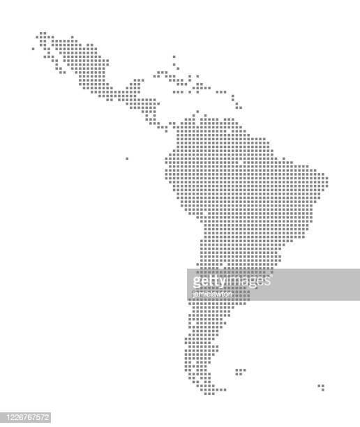 map of latin america using squares - latin america stock illustrations