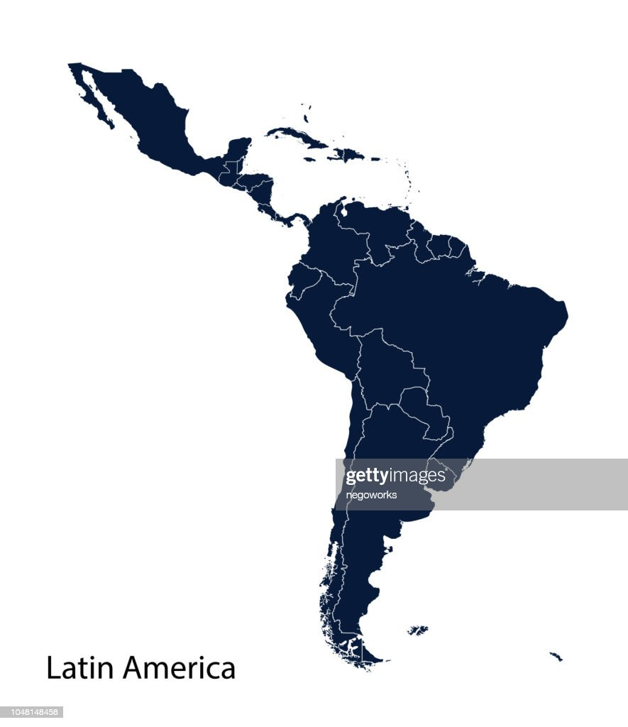 Map of Latin America.