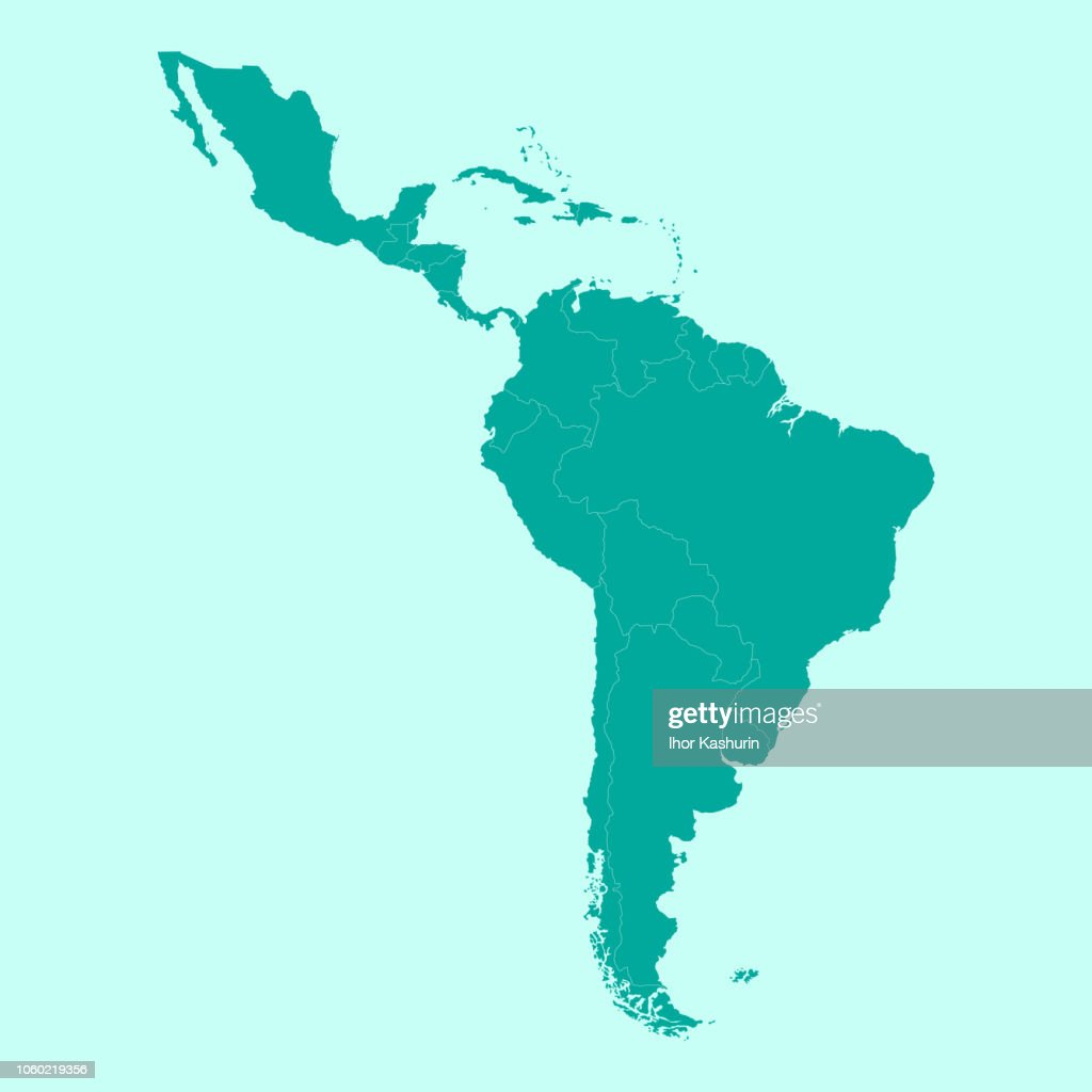 Map of Latin America.
