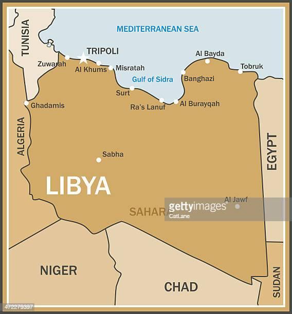 ilustrações, clipart, desenhos animados e ícones de mapa da líbia - níger