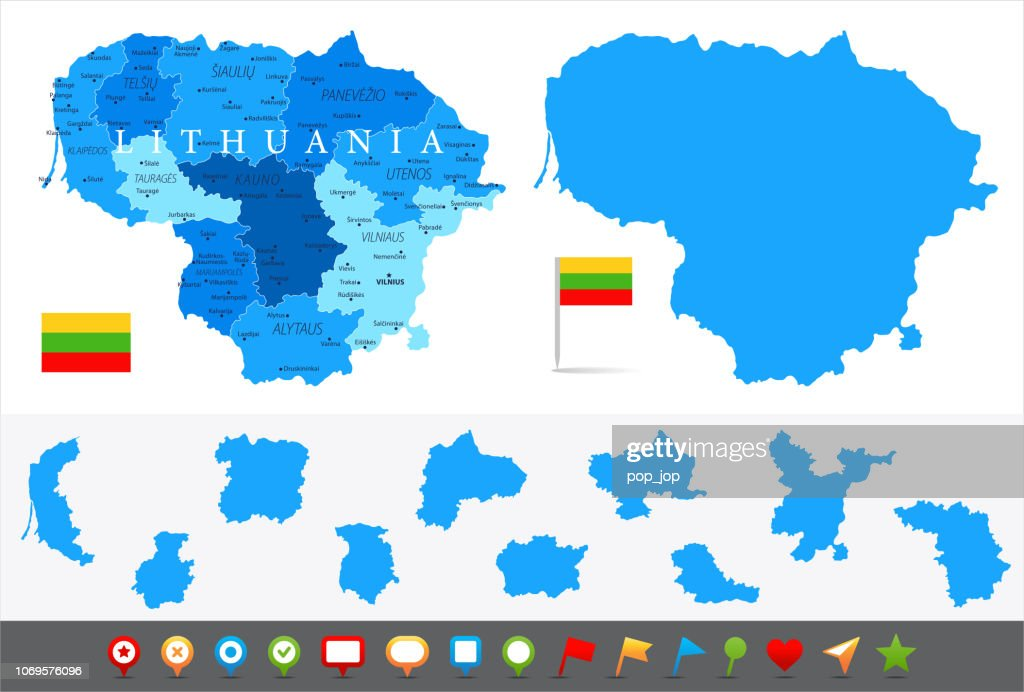 Image of: Map Of Lithuania Infographic Vector High Res Vector Graphic Getty Images
